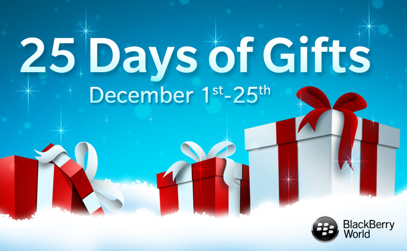 25 Days of Gifts from BlackBerry