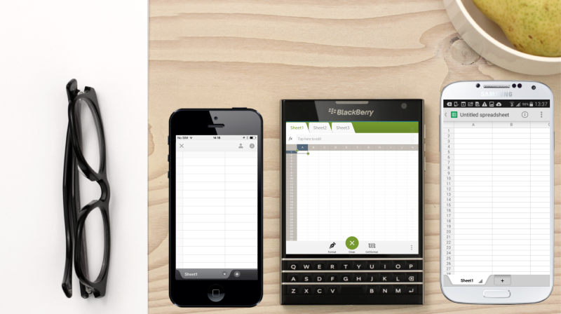 BlackBerry Passport, iPhone, Android