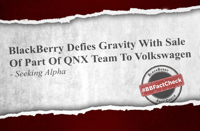 Sixth image of Fact Check Alpha Fail with No, the Volkswagen Deal Does NOT Include Any of our QNX Team