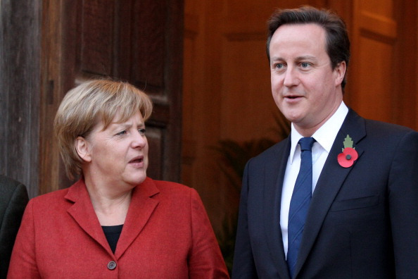 German Chancellor Angela Merkel Meets WIth David Cameron At Chequers