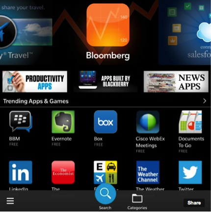 Industry-leading business and productivity tools are all right here in BlackBerry World.