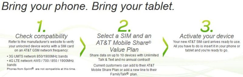 at&t mobile activation number