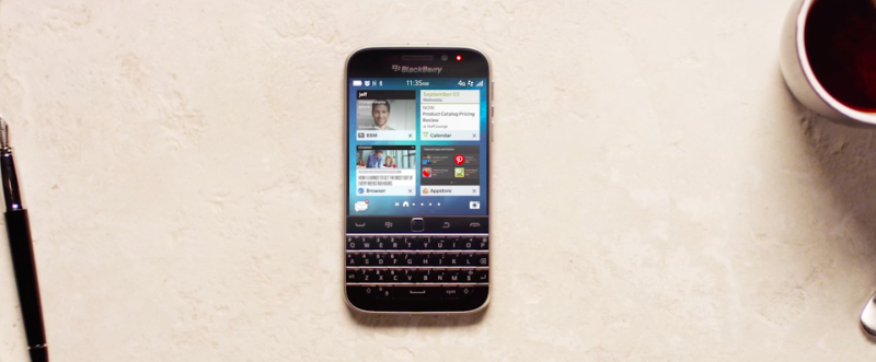 BlackBerry Classic on table