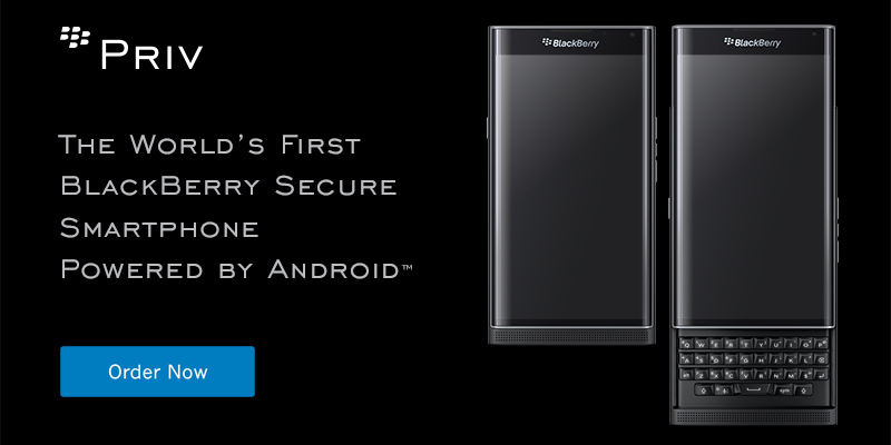 PRIV by Blackberry open and closed