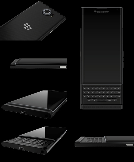 PRIV by BlackBerry slide out keyboard and closed