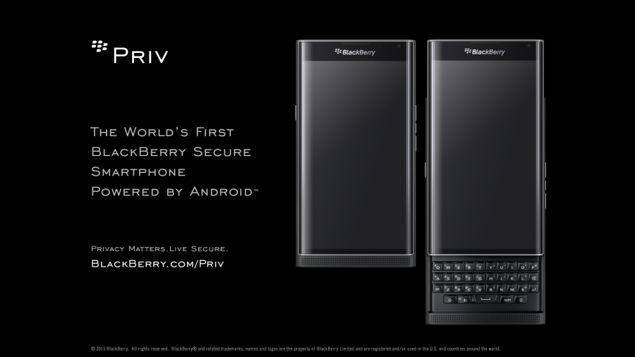 PRIV by BlackBerry powered by Android ad