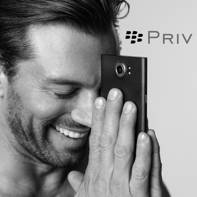 PRIV by BlackBerry privacy on ad image