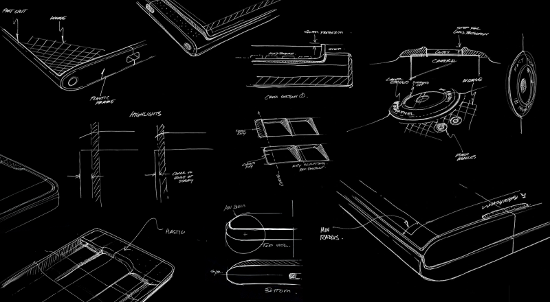 BlackBerry PRIV design sketches