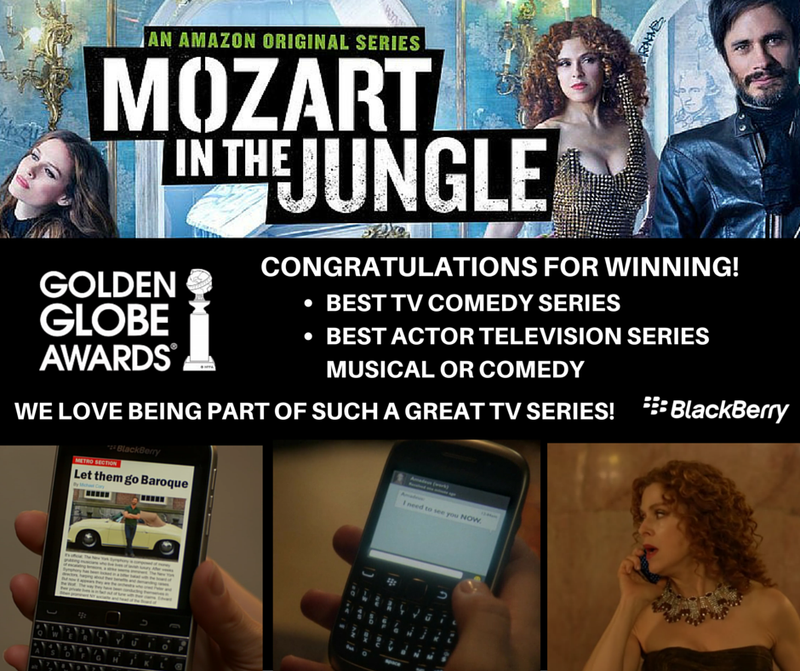 BlackBerry - Mozart In The Jungle Golden Globes