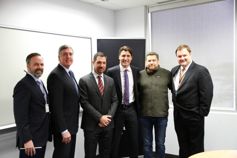 Justin Trudeau meets BlackBerry executives