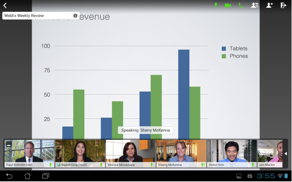 WebEx makes remote meetings more personal.