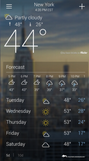 YahooWeather